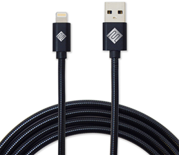 Qmadix 3.3' USB-A to Lightning Premium Metallic Charge/Sync Cable