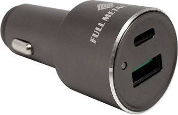 Qmadix Dual Port Power Delivery USB-C and Quick Charge 3.0 USB-A Car Charger Adapter