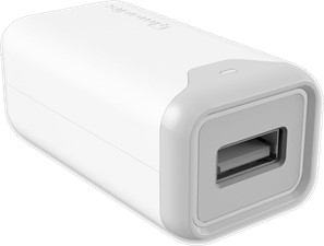 Qmadix 2.4A Wall Charger Adapter with 6' USB-A to Lightning Cable