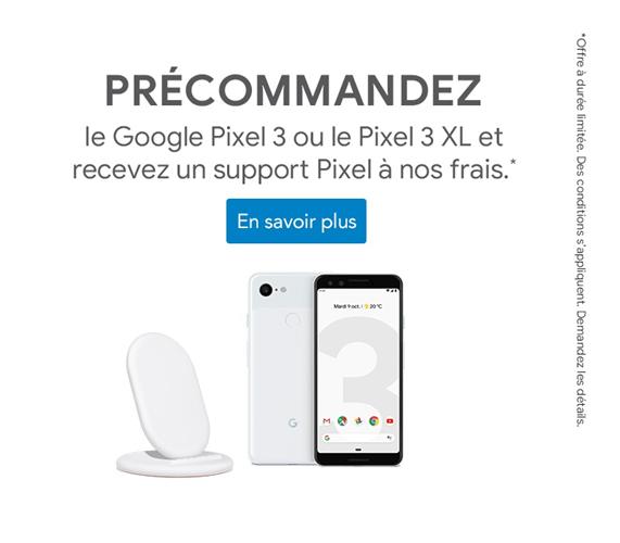 Précommandez un Google Pixel 3 ou Pixel 3 XL