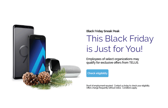 TELUS Black Friday Offers for Employees