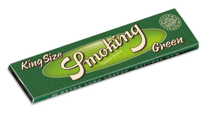 Smoking, Green King Size Rolling Papers