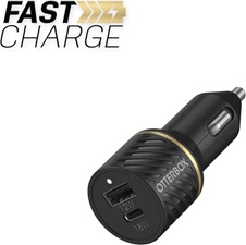 OtterBox Dual Fast Charge Premium Car Charger USB-C 30W