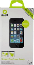Muvit Apple iPhone 4/4s Cover Ready Screen Protector (2pk)