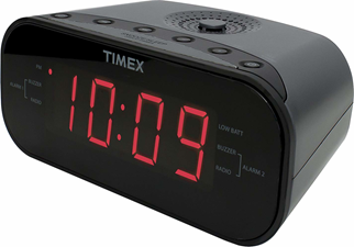 iHome Dual Alarm Clock Radio with 1.2 inch Red Display