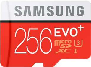 Samsung MicroSDXC EVO+ Memory Card w/ Adapter 256GB