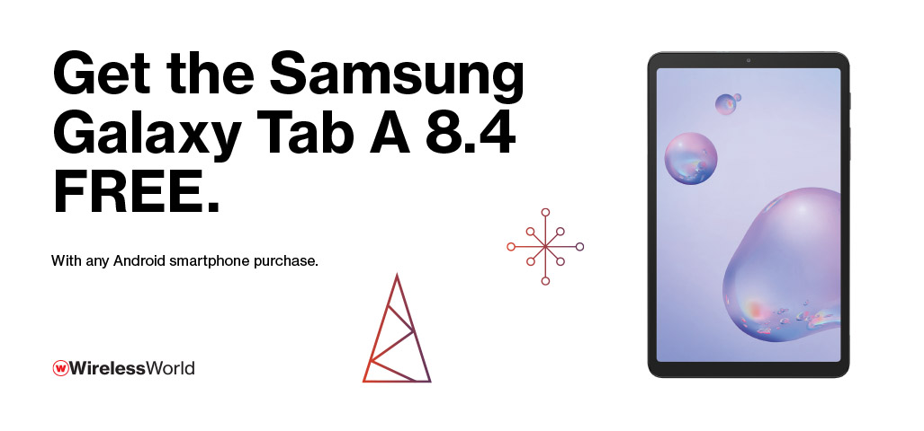 Get the Samsung Galaxy Tab A 8.4 Free