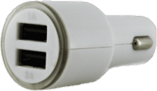 Muvit 3.1A  Dual USB Car Charger - White