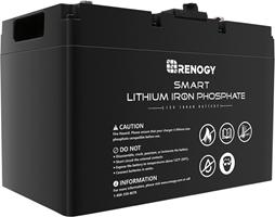 Renogy 12V 100aH Smart Lithium Iron Phosphate Battery