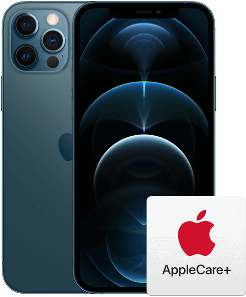 iPhone 12 Pro with AppleCare+ logo