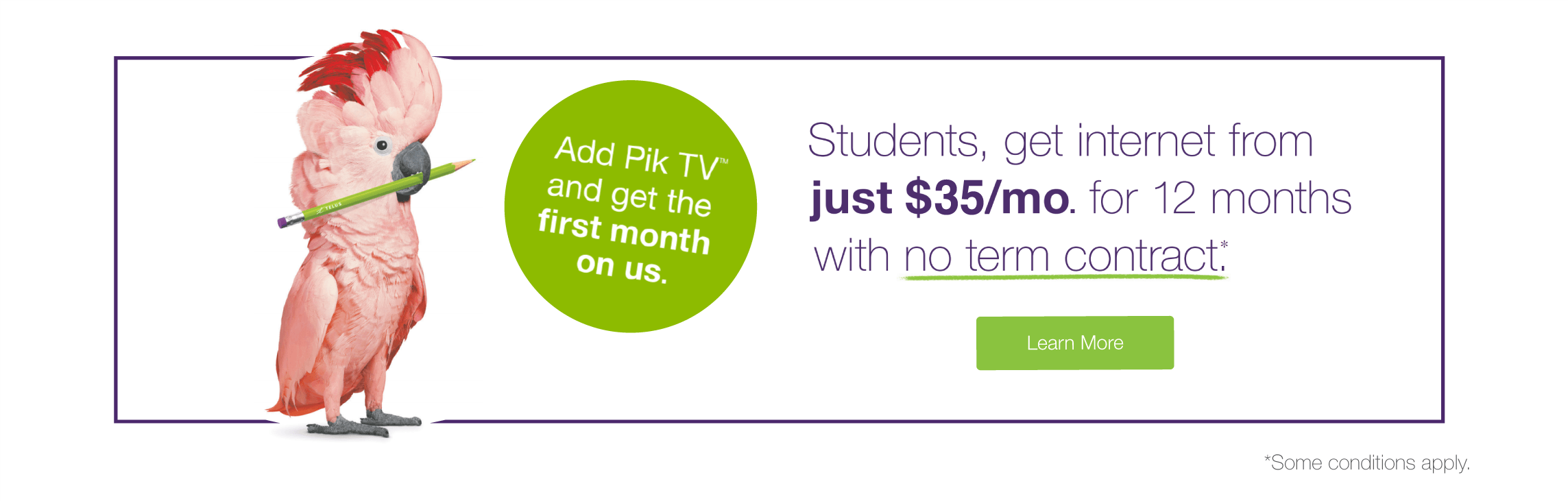 Students save on Internet for the first 8 months!