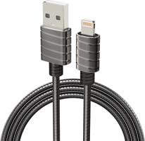 iWalk Twister Steel Metallic Apple Lightning Cable 6.5ft