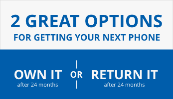 Enjoy $0 down, 0% interest financing on select phones with an eligible rate plan