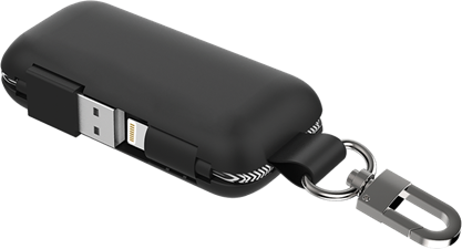 Qmadix - Power Bank 2500 Mah For Apple Lightning Devices - Black