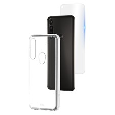 Case-Mate Protection Pack Tough Case And Glass Screen Protector For Motorola Moto G Power