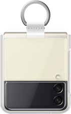 Samsung - Galaxy Z Flip3 Clear Cover with Ring - Clear