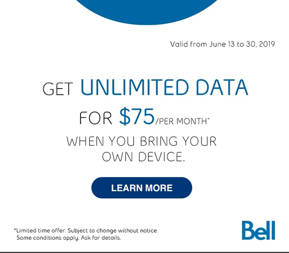Get Unlimited Data for $75 with BYOD