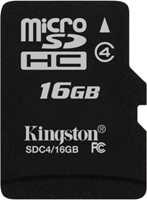 Kingston MicroSDHC Flash Memory Card