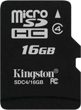 Kingston MicroSDHC Flash Memory Card
