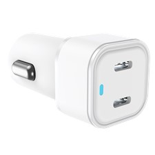 Qmadix 20w White Dual Port Power Delivery Car Charger
