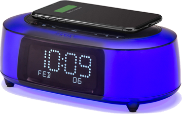 iHome TimeBoost Glow Color Changing Alarm Clock