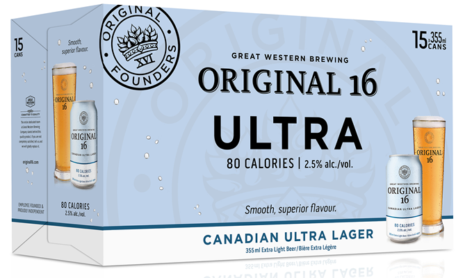 Great Western Brewing Company 15C Original 16 Canadian Ultra Lager 5325ml