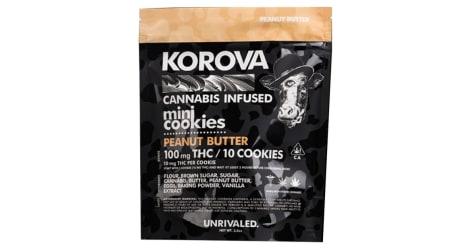 Korova: Mini Peanut Butter Cookies 100mg