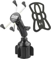 RAM Mounts RAM Large X-Grip with Stubby Cup Holder Base Rugged Vehicle Mount
