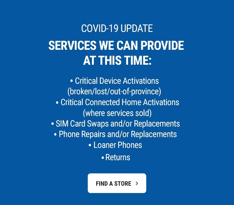 Limited services that we can provide at this time.