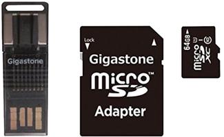 Gigastone 4-In-1 64GB Prime Micro SD Card C10 U1