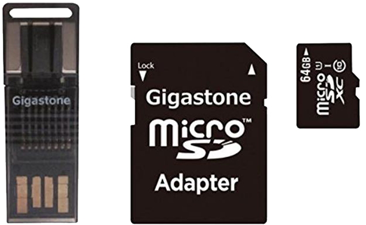 Gigastone 4-In-1 64GB Prime Micro SD Card C10 U1