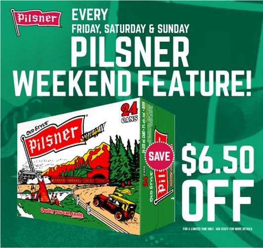 Pilsner Weekend Sale