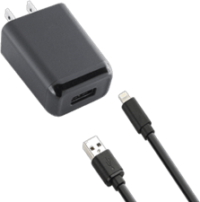 KEY Single Lightning Wall Charger (2 Piece) 2.4A