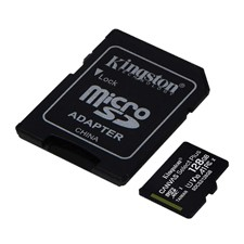 Kingston UHS-I A1 Canvas Select Plus MicroSD Card w/ SD adapter
