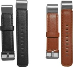 Affinity Electronics Fitbit Charge 2 Black/Brown Leather Band Duo Pack