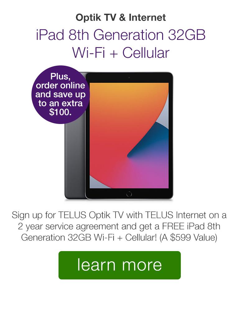 Get a FREE Apple iPad with Optik TV & Internet!