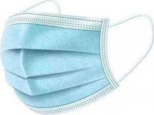General PPE Disposable Face Mask (Box of 50) Blue