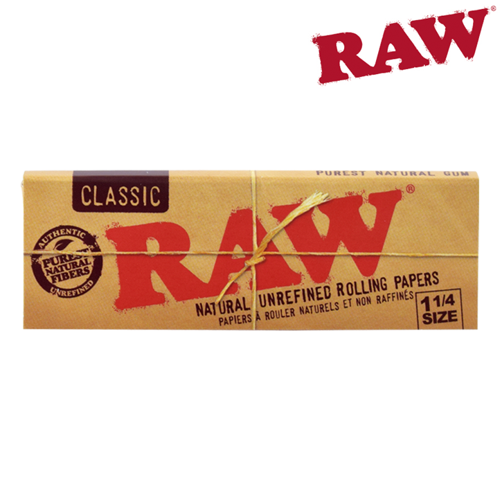 RAW, Classic, 1 1/4 Rolling Papers