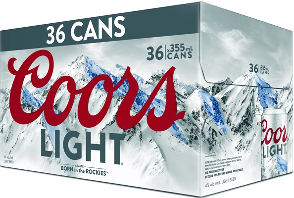 Molson Breweries 36C Coors Light 12780ml