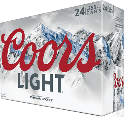 Molson Breweries 24C Coors Light 8520ml