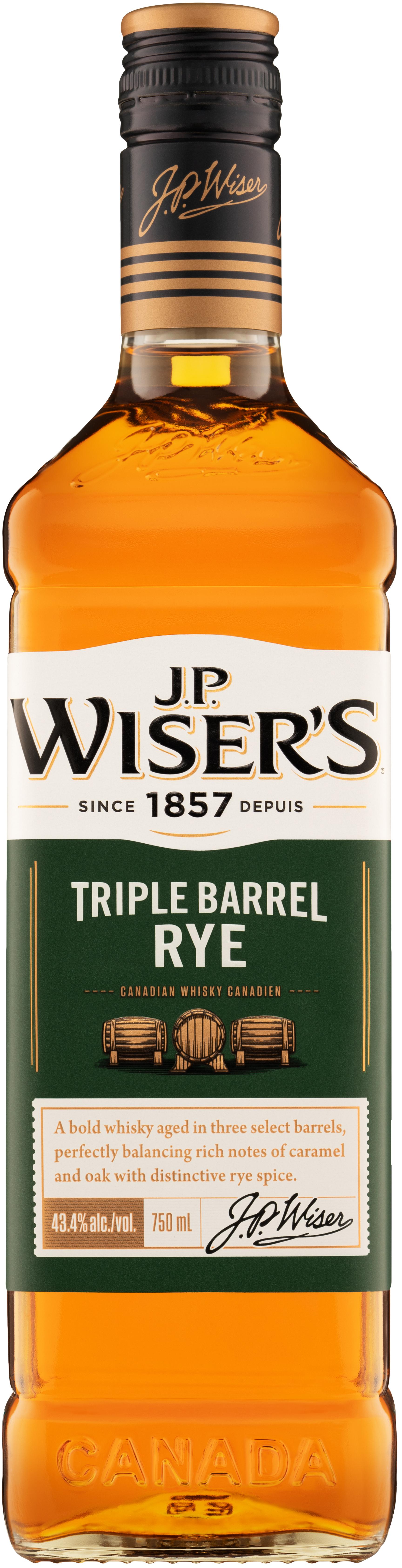 J.P. Wiser's Triple Barrel Rye 750ml