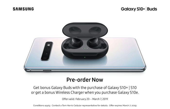 Get Bonus Galaxy Buds with Galaxy S10+ | S10