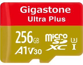 Gigastone Ultra Plus 256GB Micro SD Card with Adapter