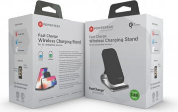 PowerPeak FastCharge Wireless Charging Stand - includes Fast Charge adapter (1.4X Faster)