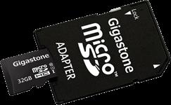 Gigastone MicroSD XC 64GB, Class 10 Memory Card