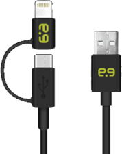 PureGear MicroUSB & Lightning 2-in-1 Charge/Sync Cable