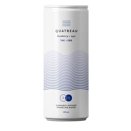 Blueberry and Acai - Quatreau - Sparkling Water