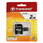 Transcend microSD Memory Card with SD Adapter