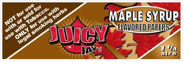 Juicy Jay, Maple Syrup Flavored Papers