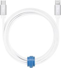 Blu Element - Braided Charge/Sync USB-C to Lightning 10ft White